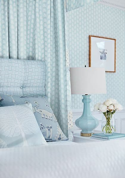 Thibaut Ferndale Wallpaper in Turquoise